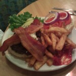 Brewhouse Burger with Gargonzola & Bacon