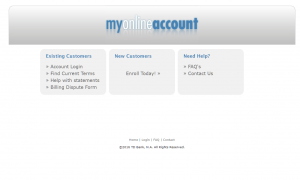 My Online Account - Home